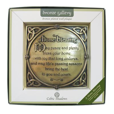 Bronze Plated Wall Plaque With A Home Blessing