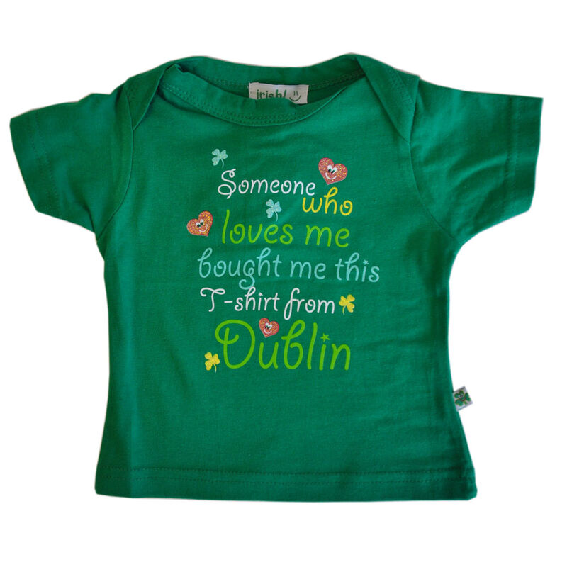 Someone Loves Me Babies Green T-Shirt