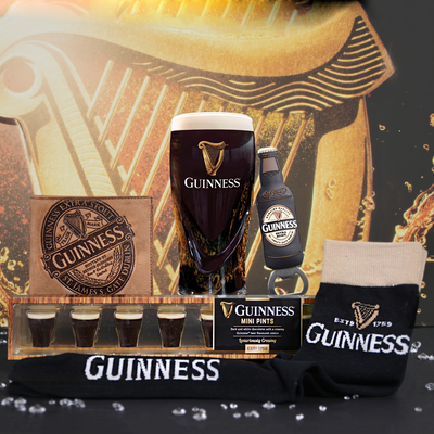 Guinness Pint Glass Gift Set For Him With Leather Wallet
