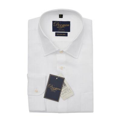 Doogan Donegal 100% Irish Linen Shirt, Errigal White Colour