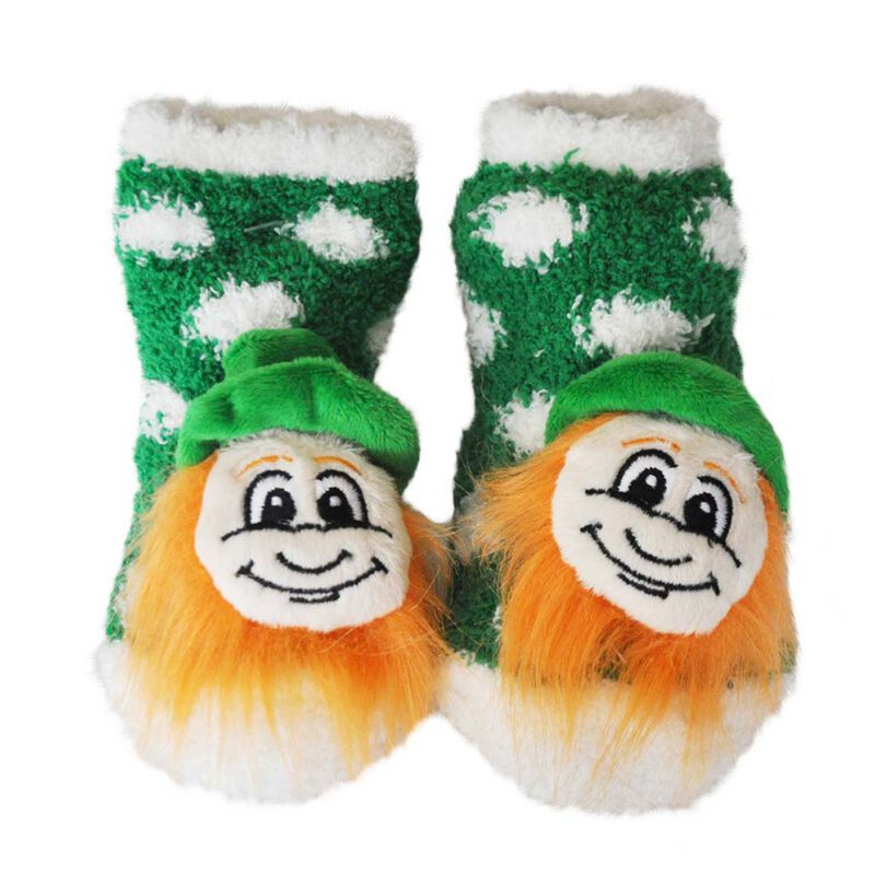 Murphy The Leprechaun Toddler Boots  Green With White Design