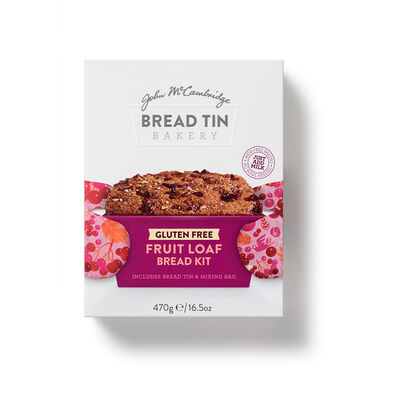 John McCambridge Gluten Free Fruit Loaf Bread Kit Including Bread Tin & Mix Bag, 360g
