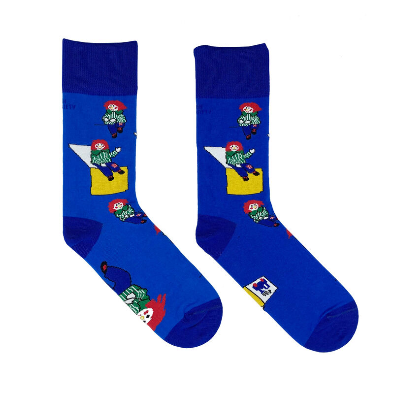 Irish Socksciety Bosco Socks - Light Blue Colour With Dark Blue Trim