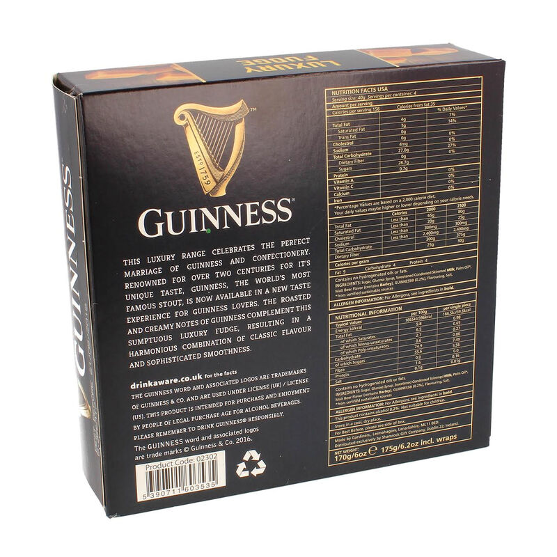 Guinness Luxury Fudge Box Of Sweets  Individually Wrapped  170G