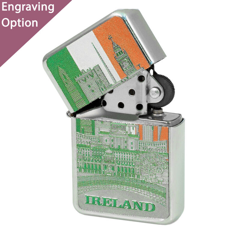 Ireland Montage Tri Colour Foil Style Windproof Lighter