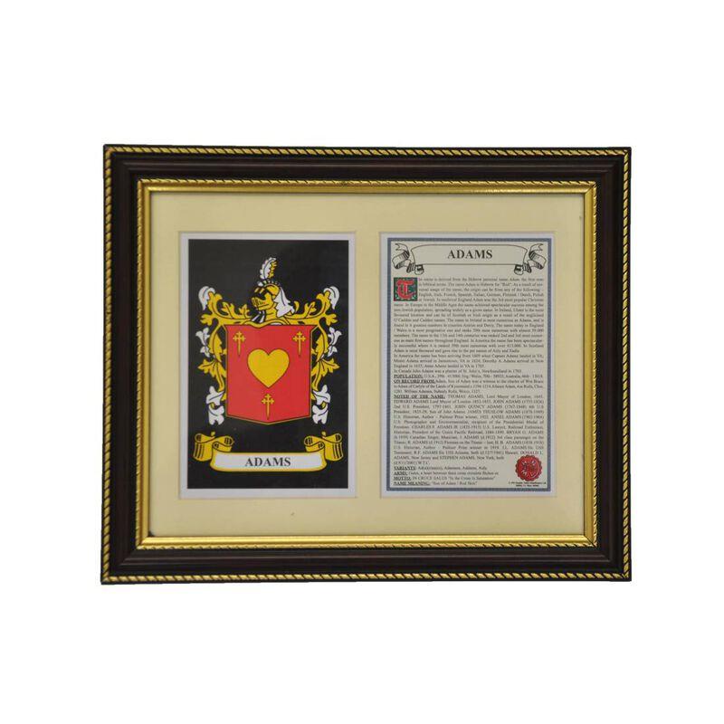 Heraldische Wandtafel auf Familienwappen  County Wappen und Souvenir Titel