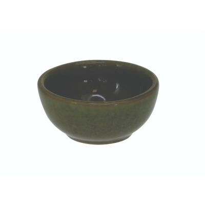 Watervale High-Quality Pottery Ramekin With Celtic Spiral  Green Colour