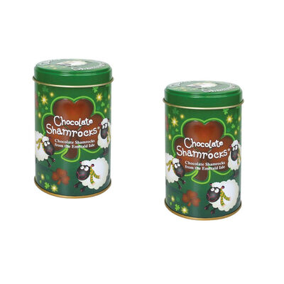 CLEARANCE - Chocolate Shamrocks In Can (Two Pack)