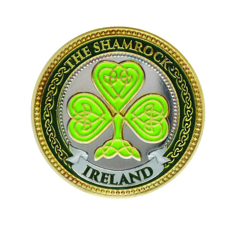 Collectors Edition Celtic Shamrock and Map of Ireland Design Token