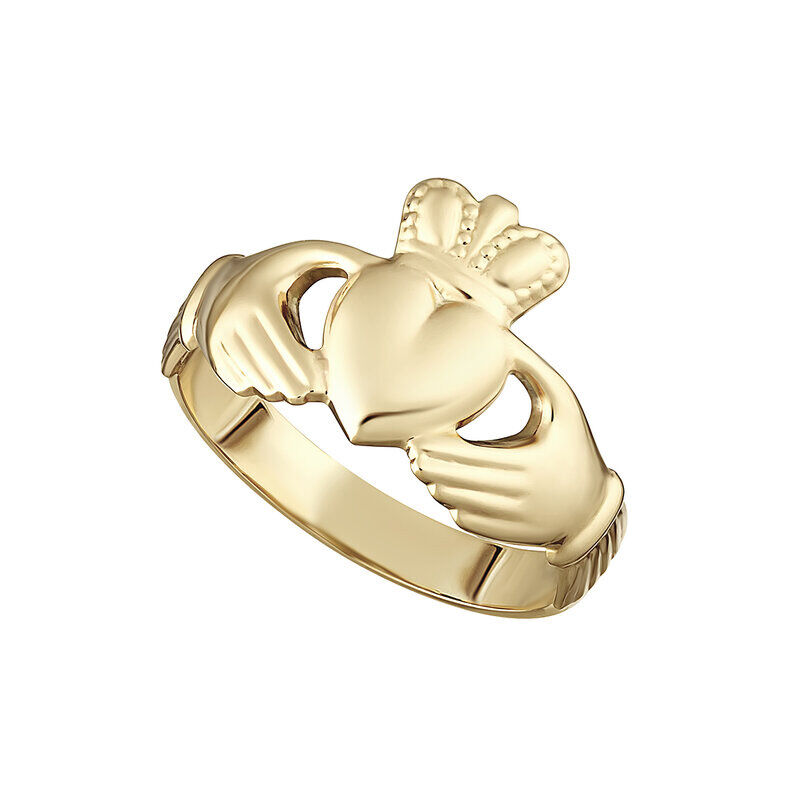 9CT Gold Hallow Back Maids Claddagh Ring