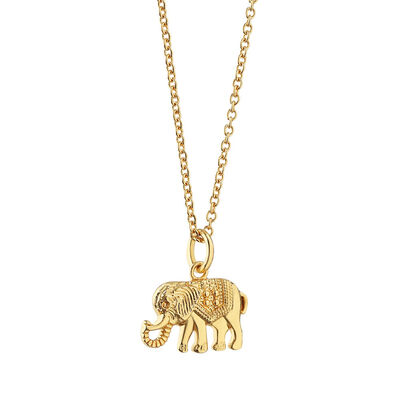 Gold Plated Amy Huberman Newbridge Silverware Elephant Pendant