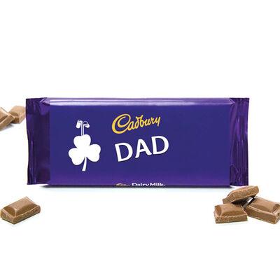 """Dad"" Cadbury Dairy Milk Chocolate Bar, 110G"
