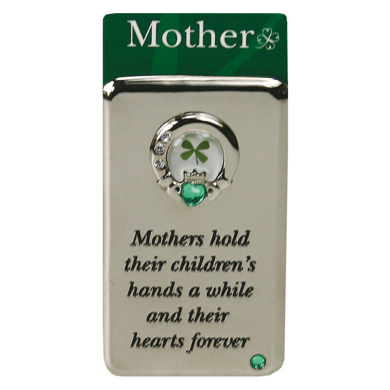 Metal Magnet With Four Leaf Clover Mother Blessing