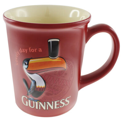 Guinness Large Toucan Embossed Mug - Red