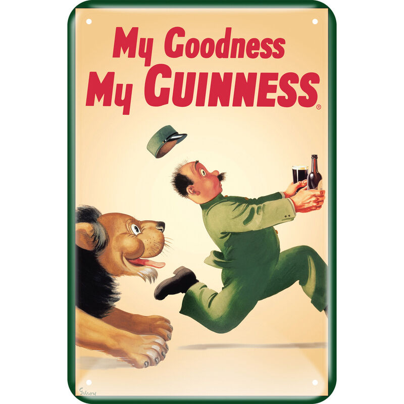 Guinness Metal Sign With Iconic Lion Design (20Cm X 30Cm)