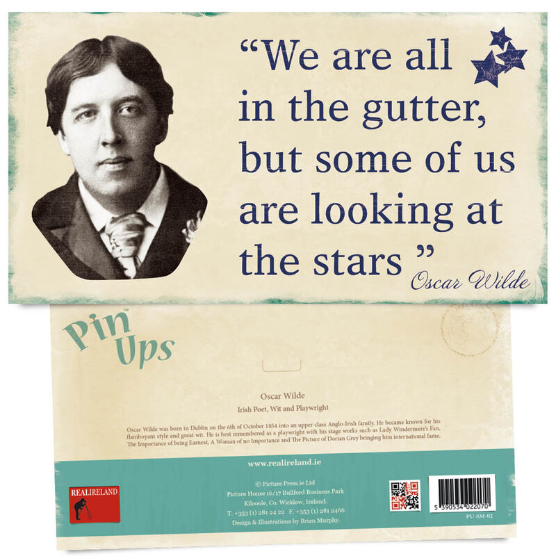 Pin Up Showing The Portrait of Famous Poet  Wit and Playwright Oscar Wilde