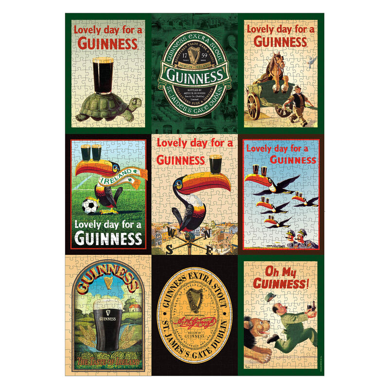 Official Guinness 1000 Piece Jigsaw Puzzle With Guinness Ads Design