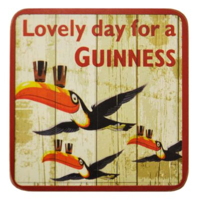 Nostalgic Guinness Flying Toucans With Pints On Their Beak Coaster
