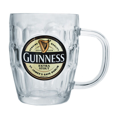 Guinness Glass Tankard With Extra Stout Label