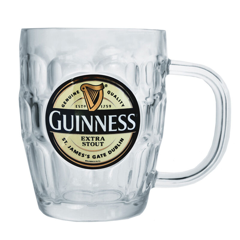 Guinness Glass Tankard With Extra Stout Label (Optional Gift Box)