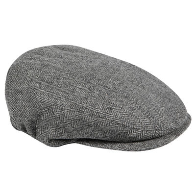 Doogan Donegal Ireland Peaky Style Tweed Flat Cap  Grey Colour