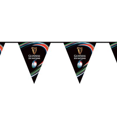The Guinness Six Nations Rugby Championship Bunting – 3.5 Meters Long