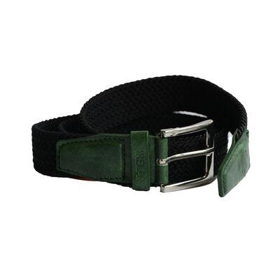 Black Stretchy Ireland Designed Belt