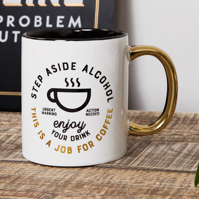 Brewmaster Stoneware Mug - A Job For Coffee