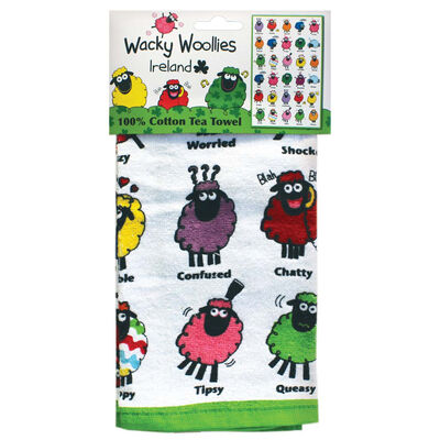 Wacky Woollies Sheep Print T-Towel