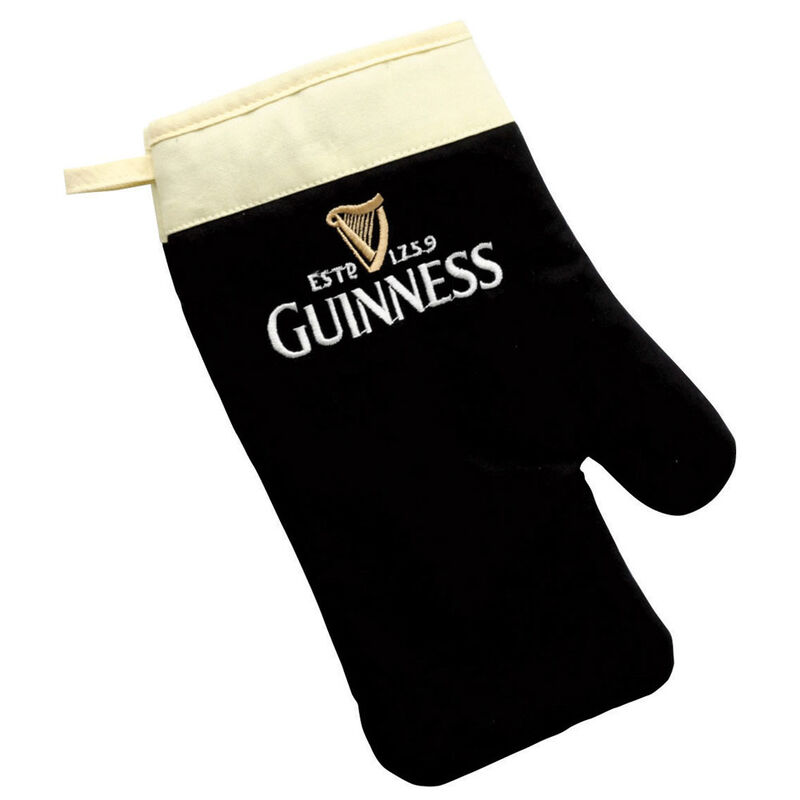 Guinness Oven Glove Designed As A Pint Of The Black Stuff With Traditional Print