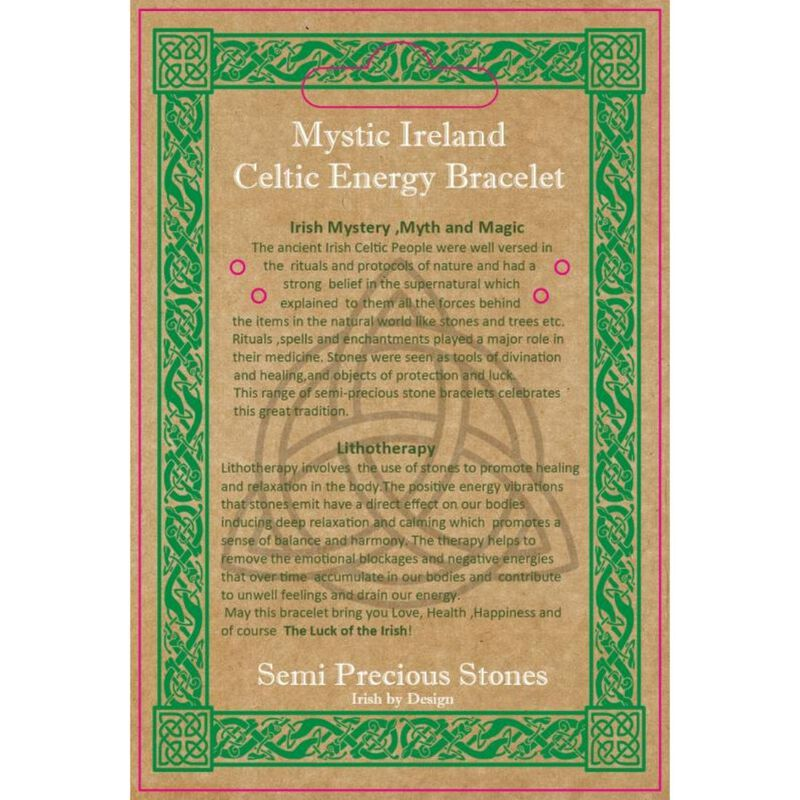 Mystic Ireland 7 Stone Chakras Semi Precious Stone Celtic Energy Bracelet