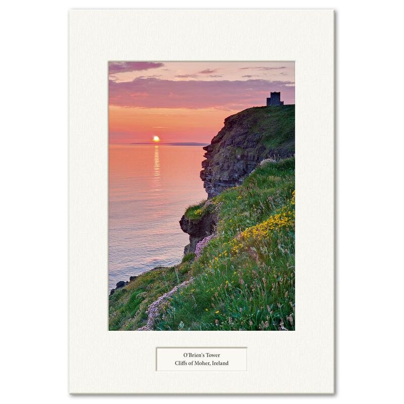 Visions Of Ireland Mounted Prints – O'Brien'S Tower  Cliffs Of Moher