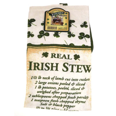 Irish Stew Recipe T-Towel And Pot Holder