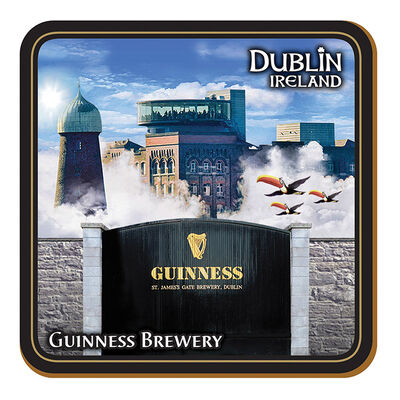 Guinness Coaster Montage Of Storehouse  Flying Toucans And St. James's Gate