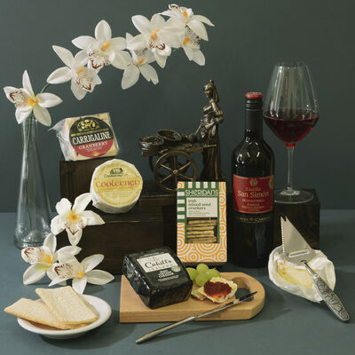Irish Cheese and Wine Hamper (Ireland Only)