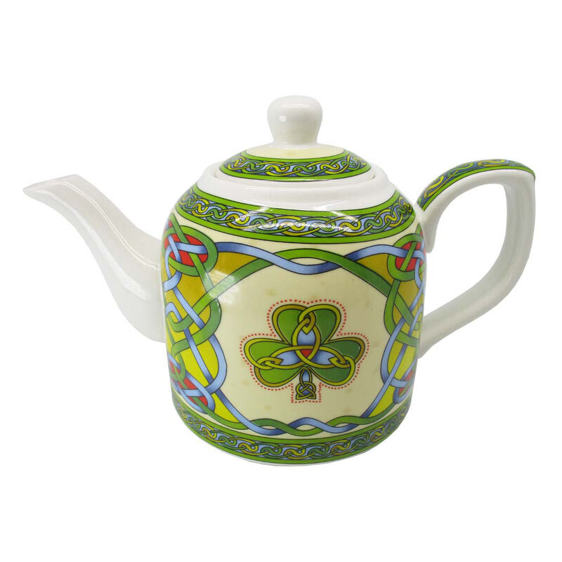 Ireland Shamrock & Celtic Weave Designed Bone China 0.65L Teapot
