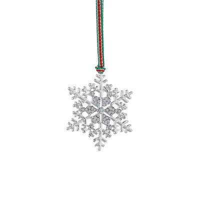 Newbridge Silverware Snowflake Clear Stones Decoration