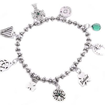 Irish Multi Charm Design Bracelet