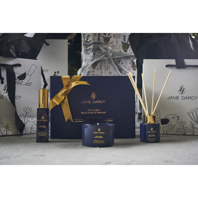 Jane Darcy All Is Calm Gift Set Burnt Amber & Patchouli