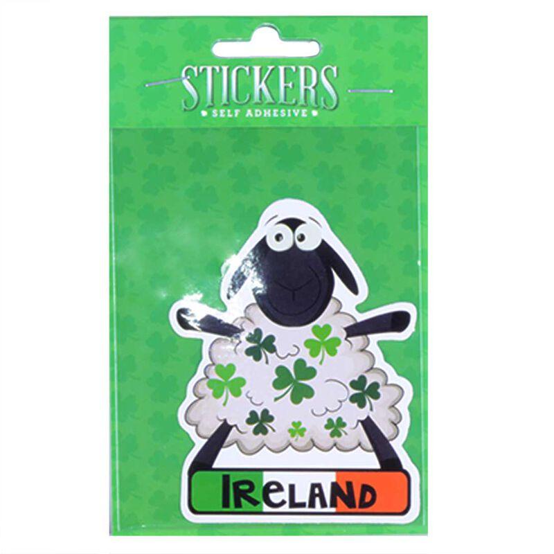 Sheep Designed Sticker With Green Shamrocks