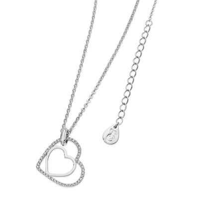 Tipperary Crystal Silver Plated Floating Heart Pendant