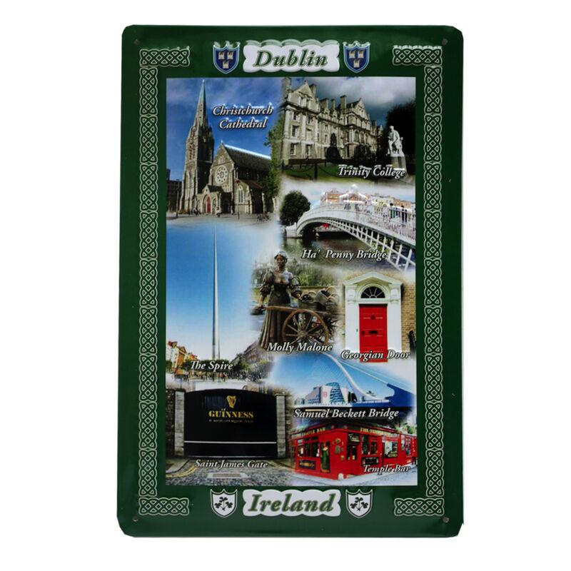Dublin Collage Metal Sign (8Cm X 11Cm)