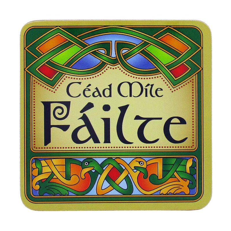 Irish Celtic Designed Coaster With Cead Mile Fáilte Text
