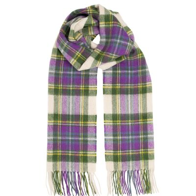 Carrolls Exclusive Tartan Woollen Scarf  Heather Tartan Design