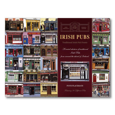 Irish Pubs Designed Placemats - Set of Four