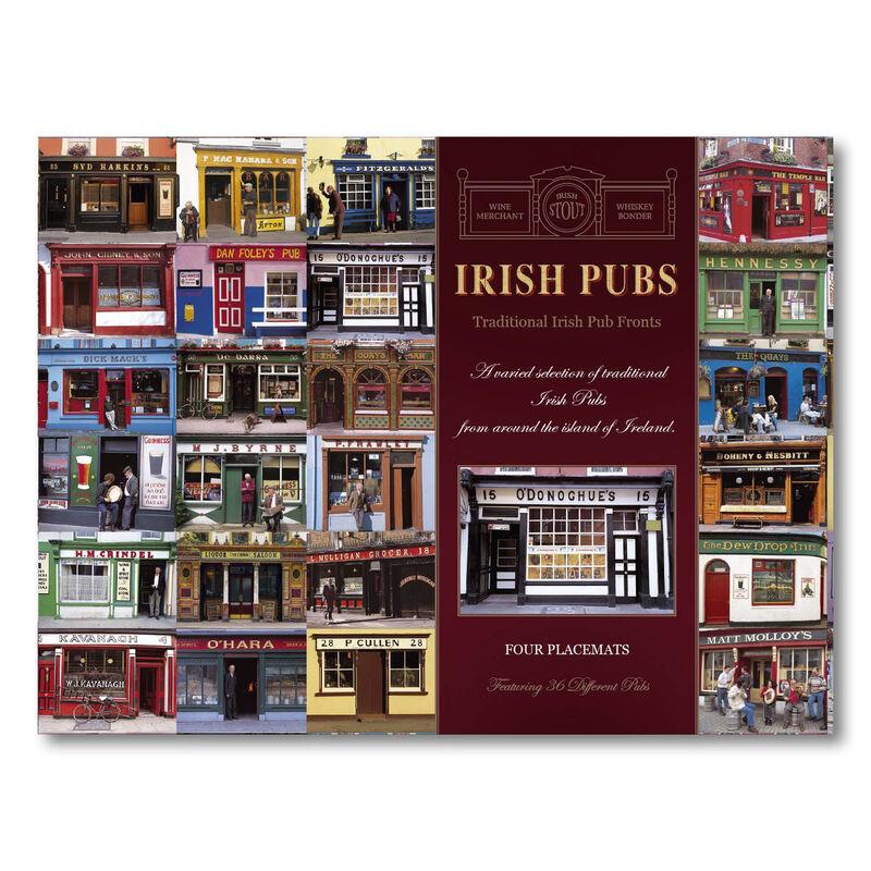 Irish Pubs Designed Placemats - Set of Four