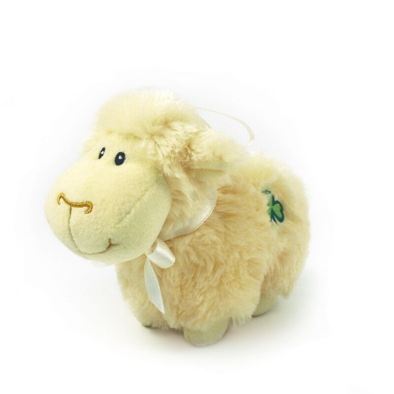 5 Huggable Friends Irish White Sheep With Shamrock Patch Soft Toy