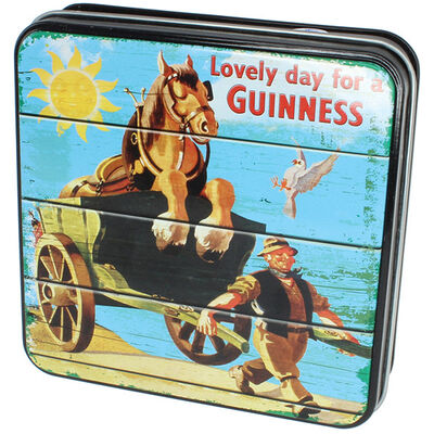 Guinness Gift Tin Of Fudge With Lovely Day For A Guinness Horse And Cart  100g