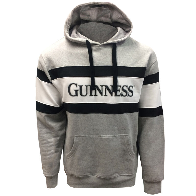 Guinness Pullover Hoodie With Guinness Text And Harp Logo Design