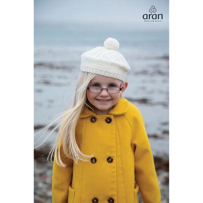 Aran Woollen Mills 100% Merino Wool Children's Beret Natural